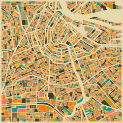 maps abstract geometric jazzberry famous artist map cities amsterdam using most colors bold creates modern forms beautifully mid century browsing