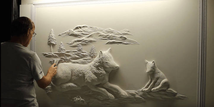 Artist Uses Ordinary Drywall To Create Beautiful Wall Sculptures