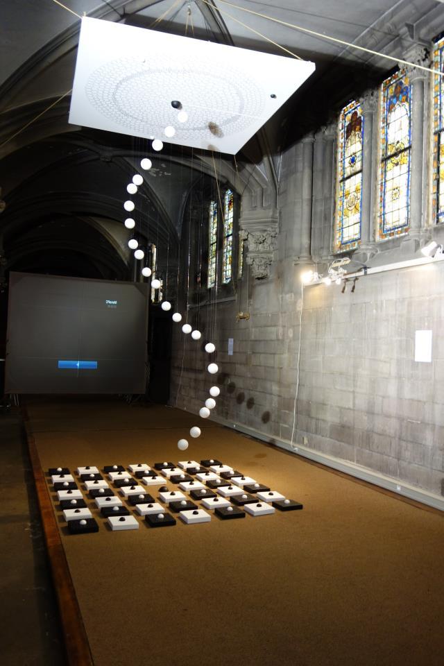 Spiraling White Balls Represent Souls Rising to Heaven