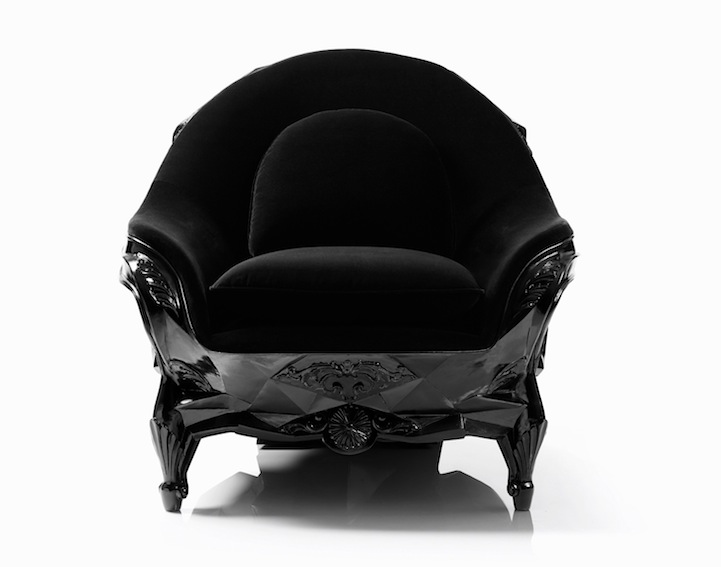 skull chair antique french chairs sculptural armchair fit for an evil genius harow website via laughing squid