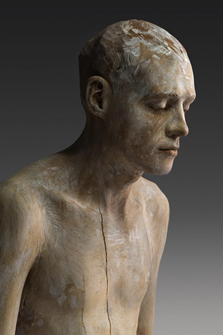 Bruno Walpoth : bruno, walpoth, Lifelike, Sculptures, Pensive, Women