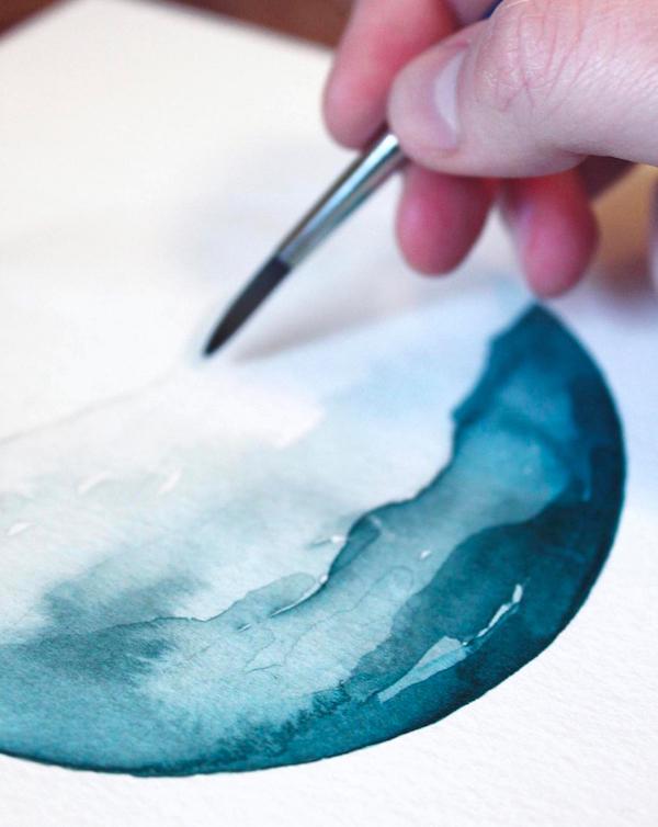 watercolor paintings of waves