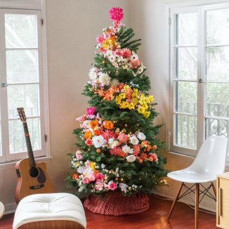 Image result for flower christmas tree