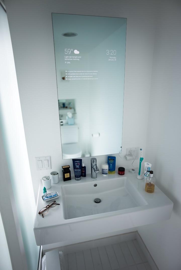 Man Transforms His Bathroom Mirror into a HiTech Device