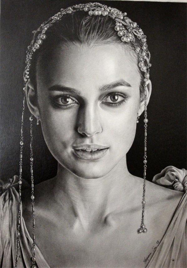 20 Photorealistic Celebrity Pencil Portraits