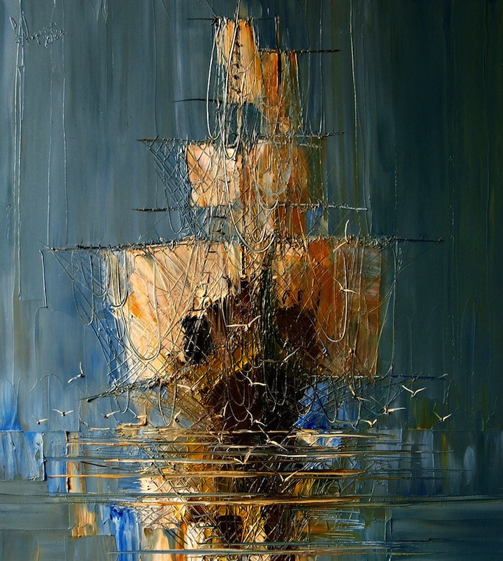 masterful textured oil paintings