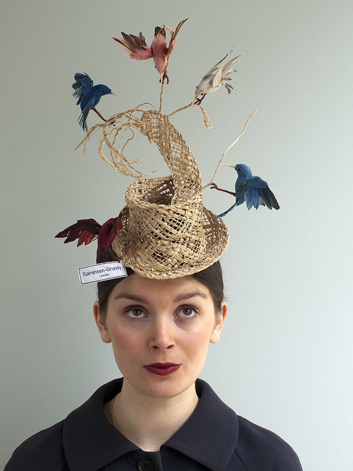 Whimsical Birds Hat Inspired By Cinderella Story
