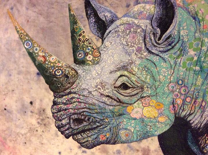gorgeous black rhino recreated