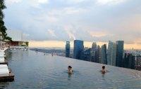 50-Meter Outdoor Infinity Pool // Marina Bay Sands