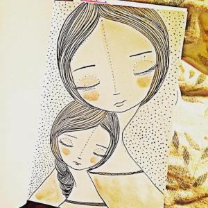 daughter mother drawing illustrations daughters illustrazioni motherhood mothers ceballos sora mom drawings madre painting paintings lopez maternita figlia artist joys