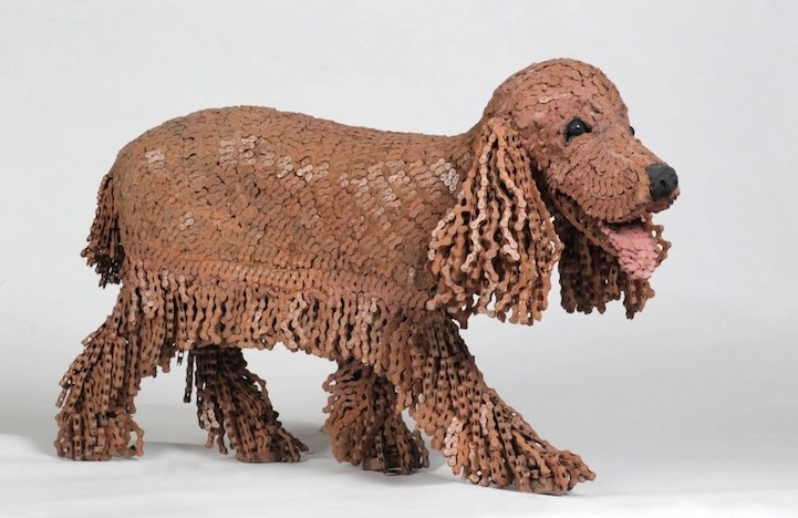 Adorable Dog Sculptures Made with Bicycle Parts