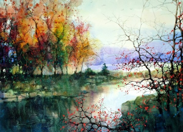 beautiful watercolor landscapes