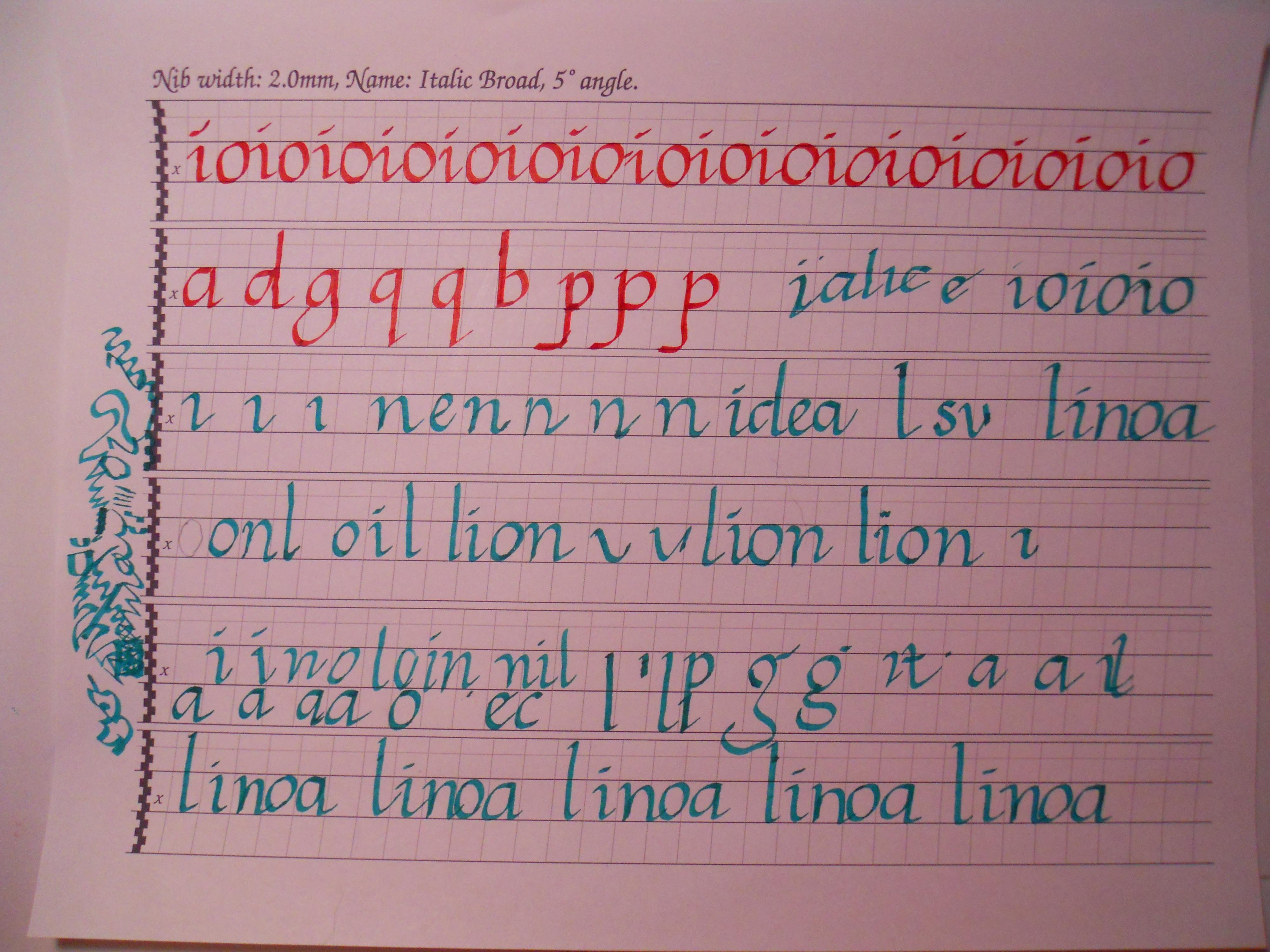Learning Italic