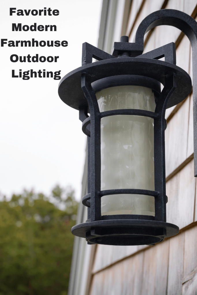 modern farmhouse outdoor lighting my