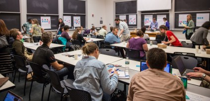 One of the workshops during the Science Advocacy Bootcamp. Photo: Alina Chan.