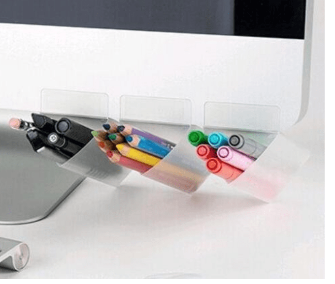 on-screen pencil holders
