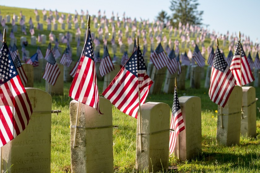 Memorial Day gravestones