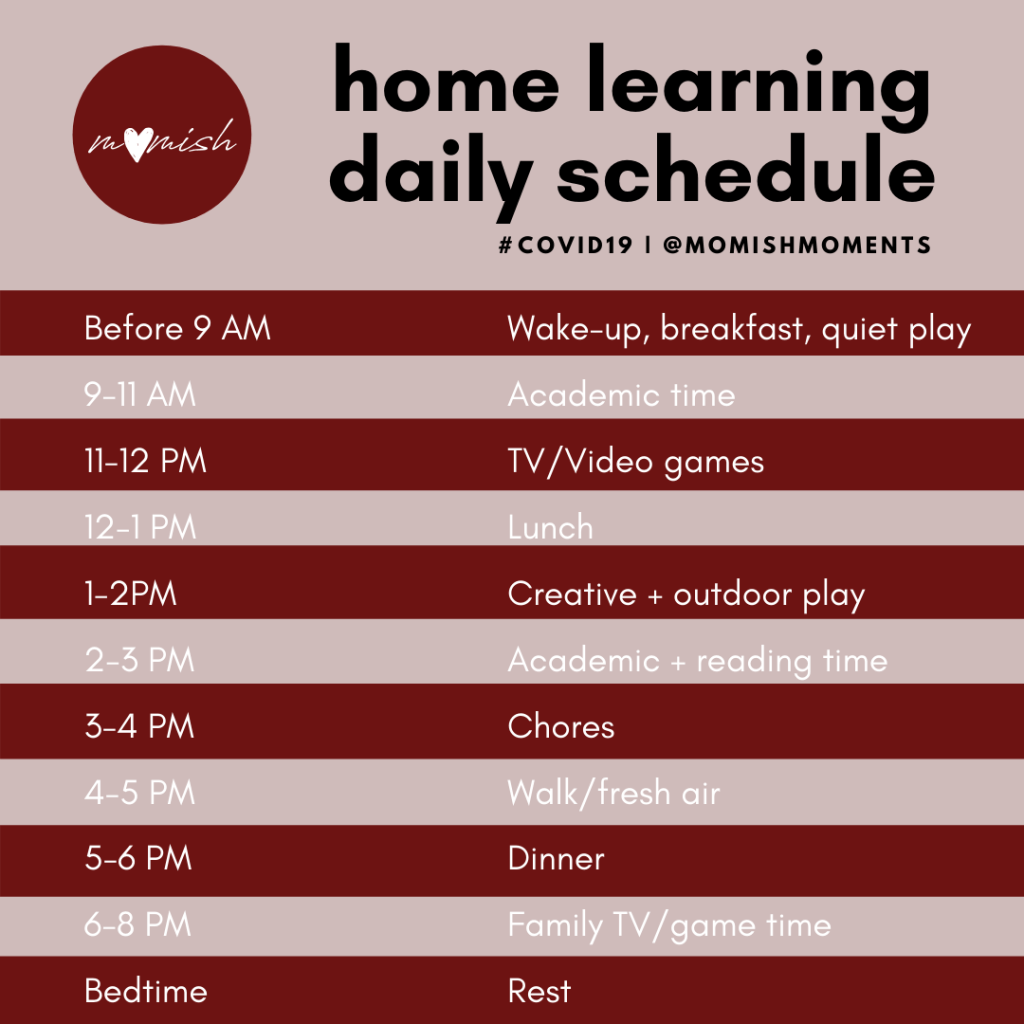 daily schedule online learning