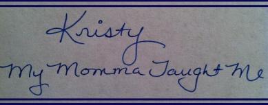Kristy MMMTM Signature