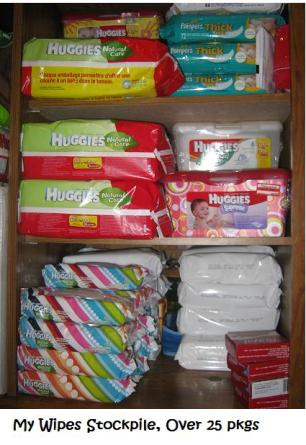 wipes stockpile