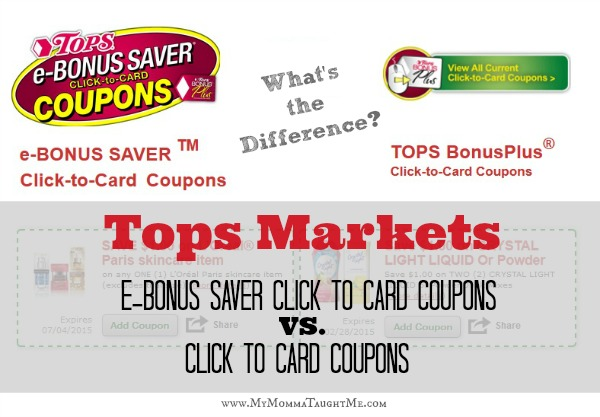 E-Bonus Saver Coupons and Click to Card Coupons