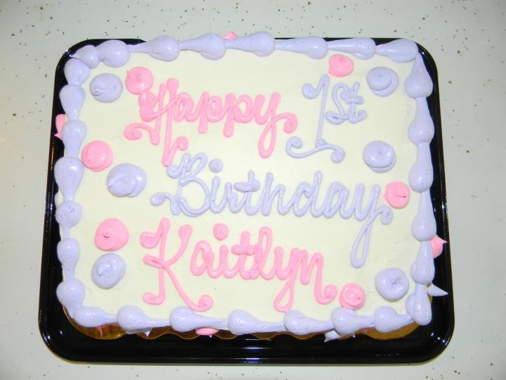 Free 1st Birthday Cake At Tops Markets My Momma Taught Me