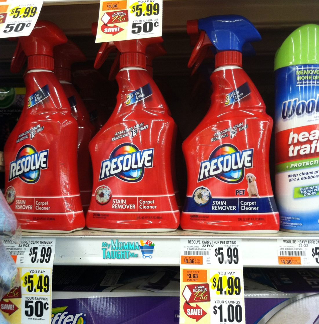 there was a nice u201ctry me freeu201d rebate on resolve laundry or carpet cleaner that came out in the 511 ss coupon insert you can find the following deal at