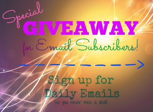 Giveaway for Email Subscribers
