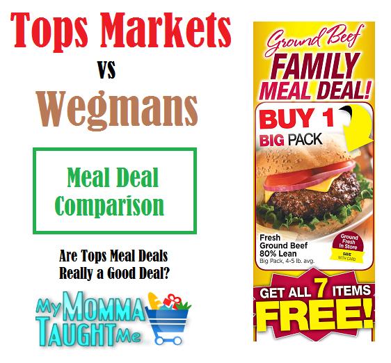 Tops Markets vs Wegmans: Beef Meal Deal Comparison