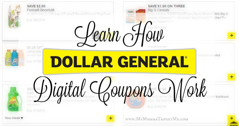 How Dollar General Digital Coupons Work