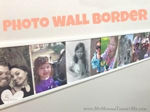 DIY Photo Wall Border
