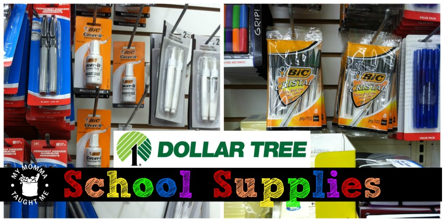 Dollar Tree School Supply Deals
