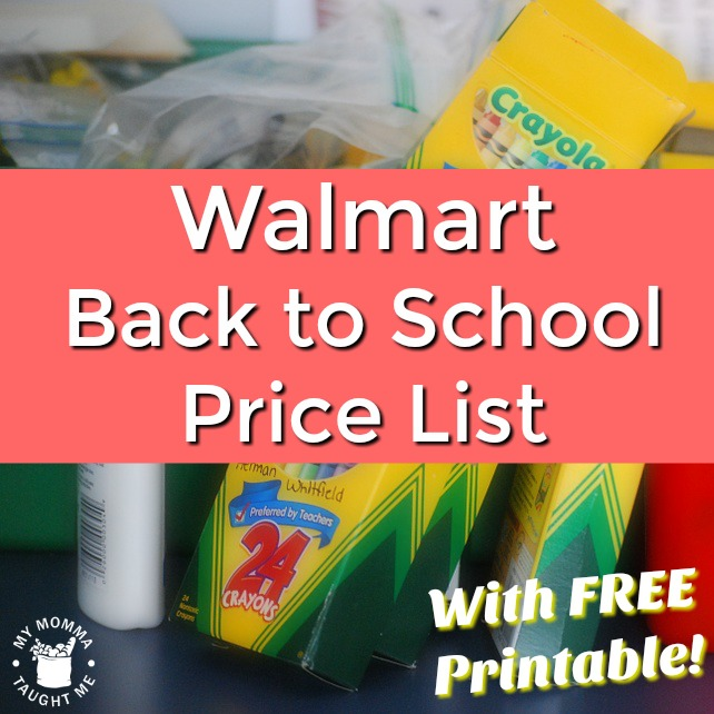 Here is your complete Walmart Back to School Supply Prices Printable List. If it is cheaper than this, you are looking at a pretty good deal. Each week I will go through and find you the best deals to price match for you school supplies. I have also created a special School Supply Sales Page that you can check out the latest deals on.