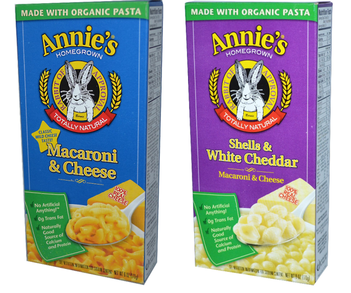 annies mac and cheese $0.67 at tops markets