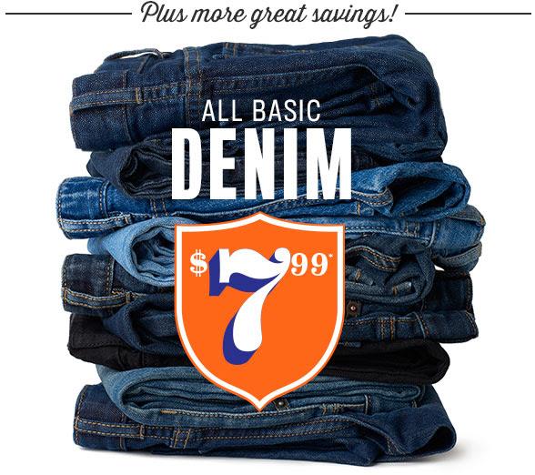 basic demin jeans $7.99