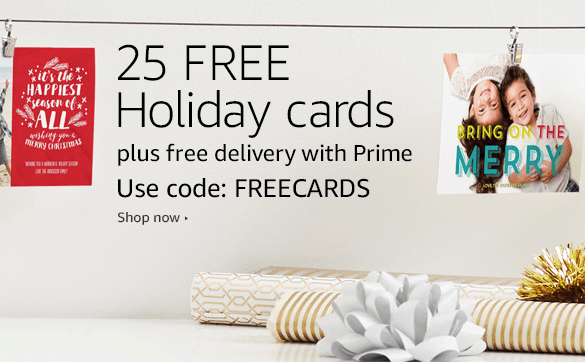 Score 25 FREE Holiday Cards for Amazon Prime Members