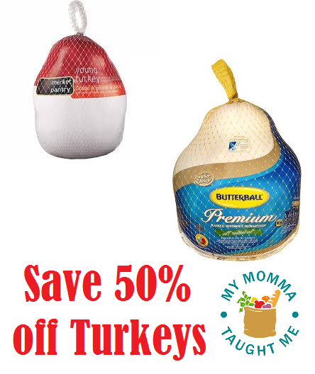 Save 50% on Market Pantry & Butterball Fresh Turkeys