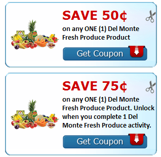 Super Rare $0.75/1 Del Monte Fresh Produce Coupon