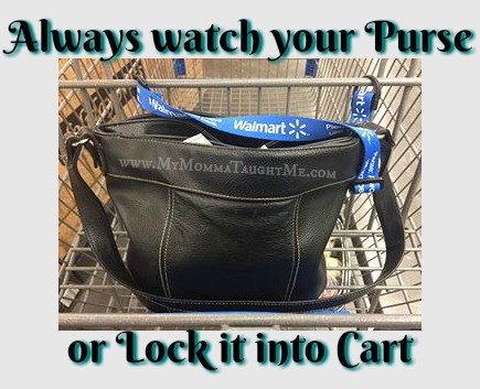 purse locked when shopping