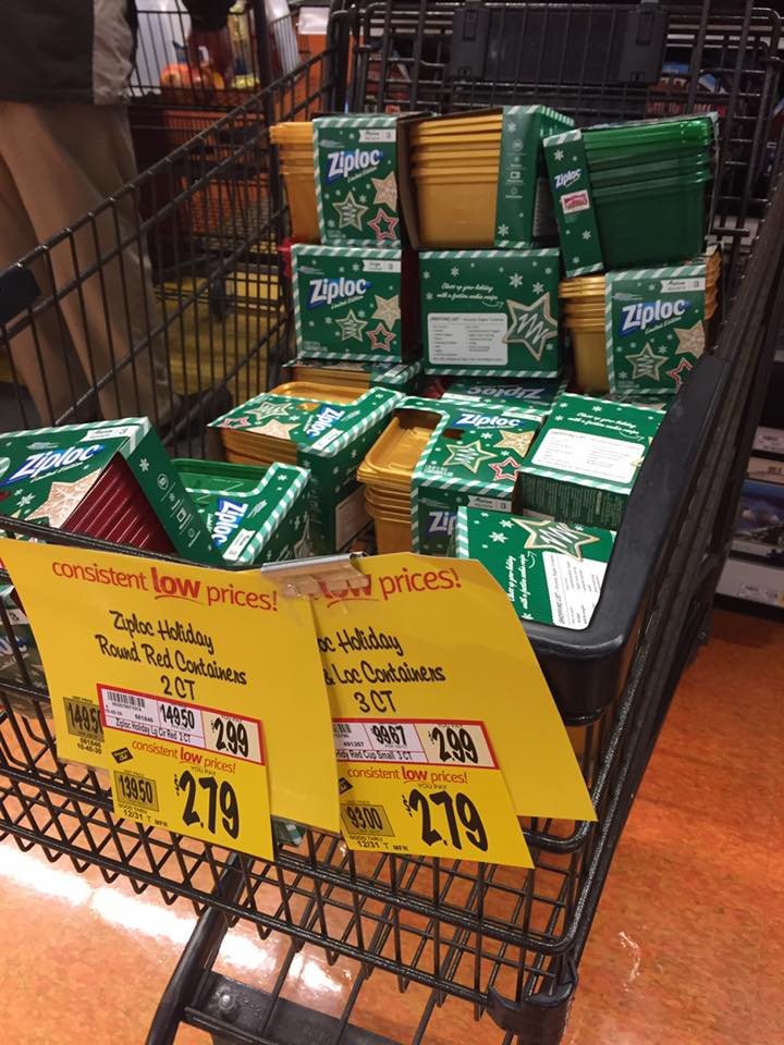 ziploc christmas containers clearanced at wegmans - Is Wegmans Open On Christmas