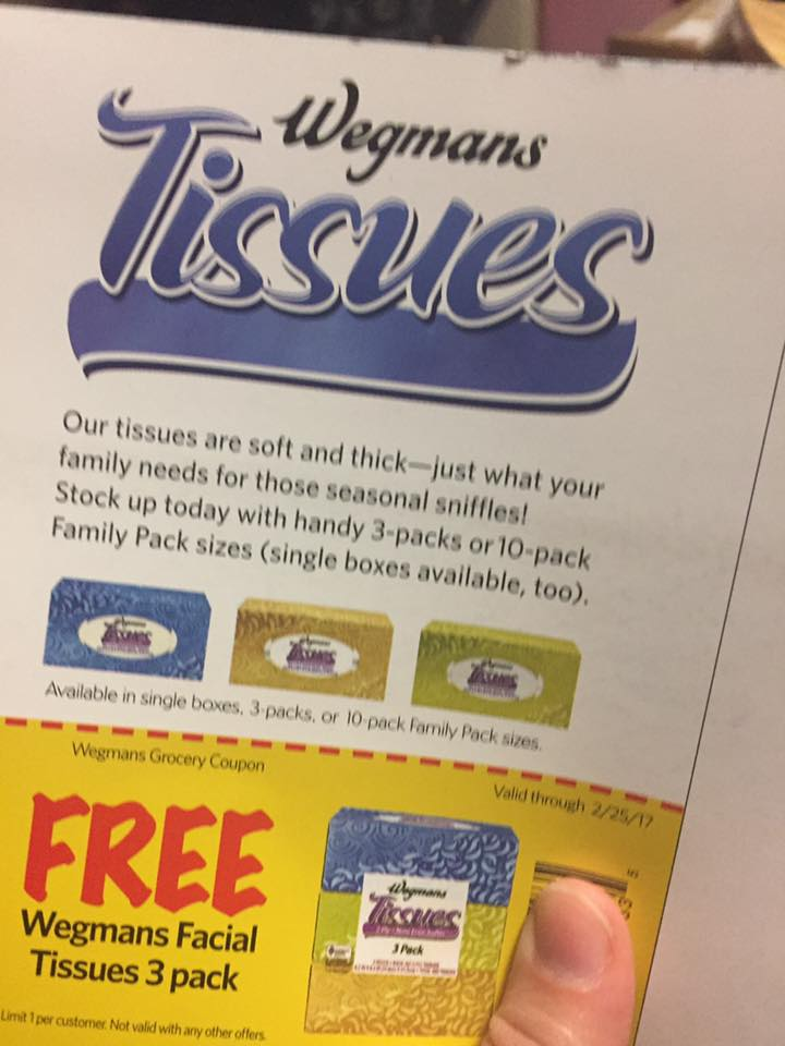Wegmans Free 3 Pk Tissues Home Mailer Coupon