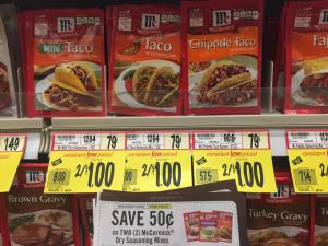 Mccormick Taco Seasonings Free At Wegmans