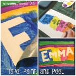 Tape, Paint, And Peel Craft