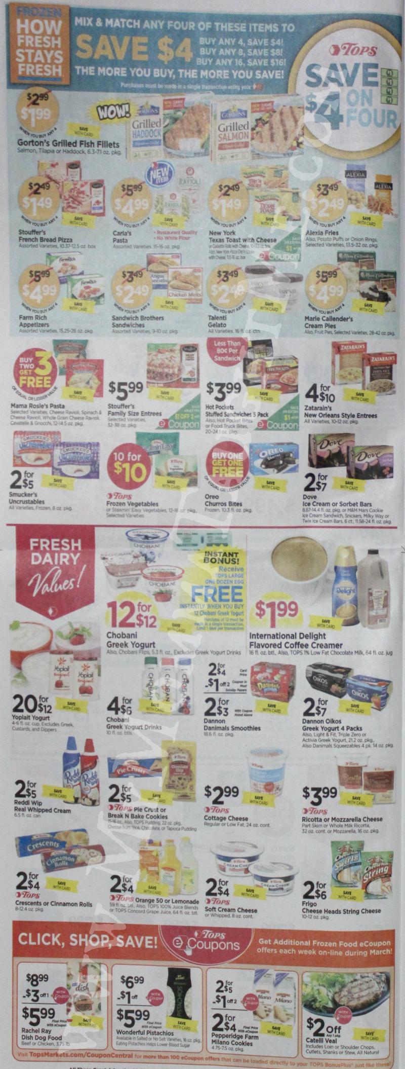Tops Markets Ad Scan Week Of 3 12 17 To 3 18 17 Page 4