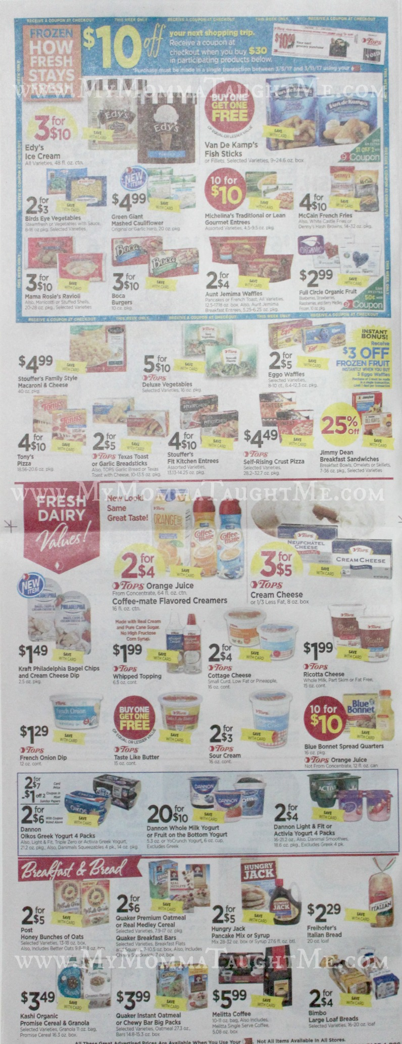 Tops Markets Ad Scan Week Of 3 5 17 To 3 11 17 Page 4