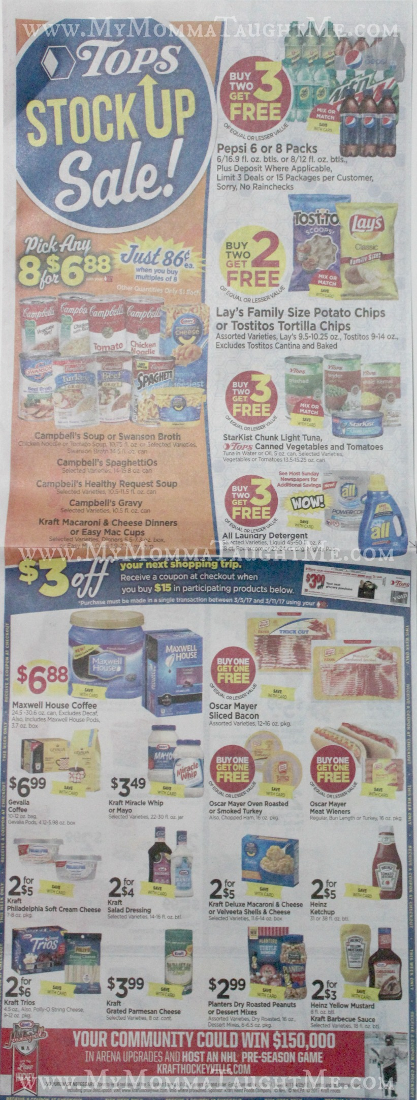 Tops Markets Ad Scan Week Of 3 5 17 To 3 11 17 WA