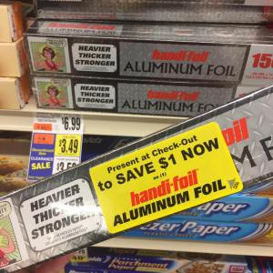 Heavy Duty Tin Foil Clearacned At Tops