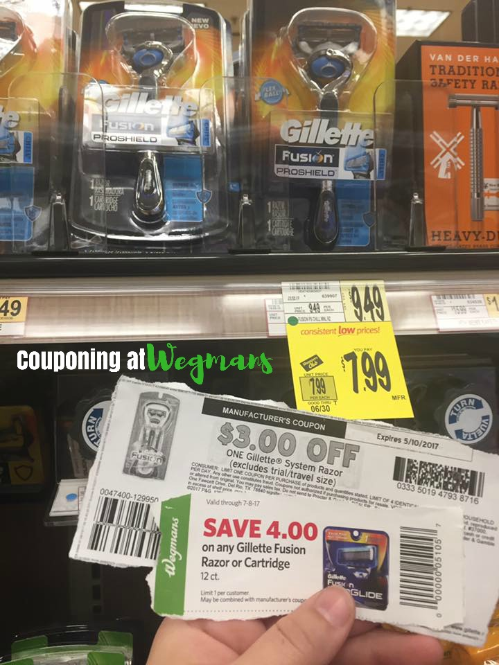 Gillete Razor Only $0 99 At Wegmans