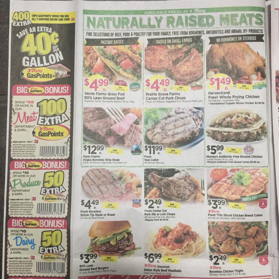 Tops Markets Ad Scan Week Of 4 16 17 To 4 22 17 Page 2a