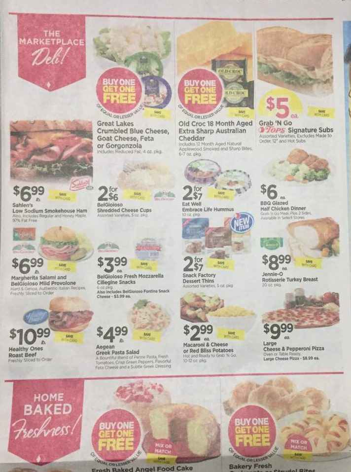 Tops Markets Ad Scan Week Of 4 16 17 To 4 22 17 Page 3a